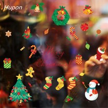 1set Merry Christmas Window Sticker New Year Christmas Windo