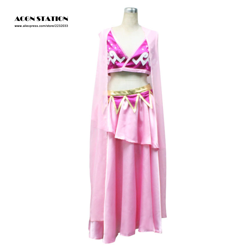 2017 Customize for adults and kids Free Shipping Adult Pink One piece Nami Cosplay Costume Alabasta Kindom Version For Halloween