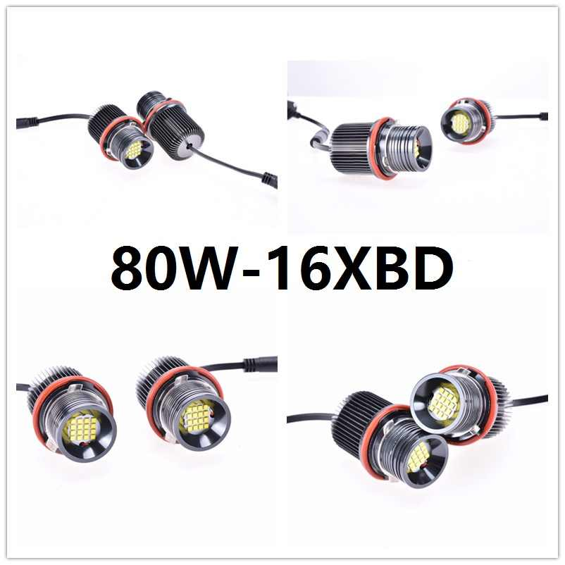 1 Set LED auto-styling Angel Eyes Auto Lamp 12V led verlichting Marker canbus lens Voor BMW E39 e53 E60 E61 E63 E64 E65 E66 E83 E87