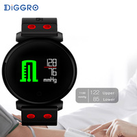Diggro K2 Bluetooth Smartwatch Waterproof IP68 Heart Rate monitor Blood Pressure Smart Watch for iOS Android PK Xiaomi