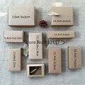 50 UNIDS Natural Kraft Marrón Caja de Cartón Pestaña De Bloqueo de Caixa Presenta Caja Caramelo de La Boda Caja de La Joyería Cajas de Regalo de Embalaje de Jabón embalaje