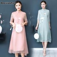 2019 new vietnamese ao dai aodai vietnam cheongsam folk style more qipao dress for women style