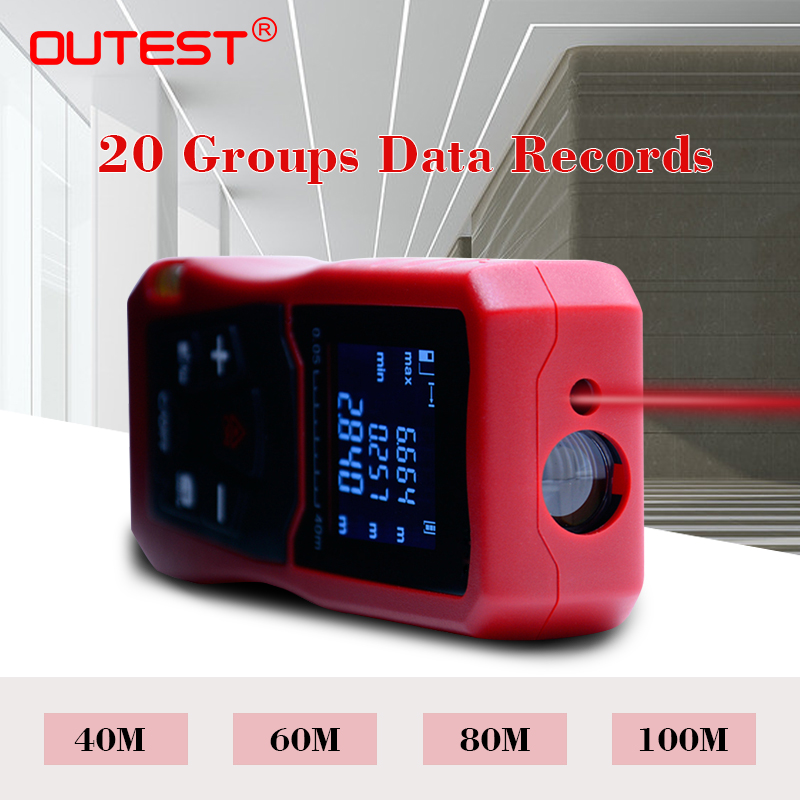 OUTEST Laser Distance Meter Digital Rangefinder For Hunting 100m Area Volume Measurement Trena Laser Tape Measure outest digital laser rangefinder laser distance meter range finder area volume measurement with angle indication 40 60 80 100m