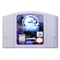 N64Game Mortal Kombat Mythologies Sub Zero Video font b Game b font Cartridge font b Console