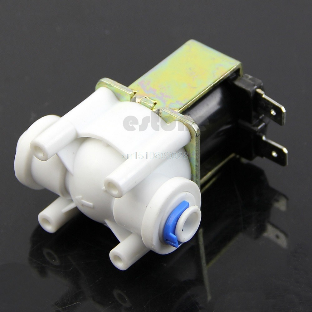 Water Valve Electric Plastic Solenoid Valve for Water Purifier Air Inlet Pipeline AC 220V