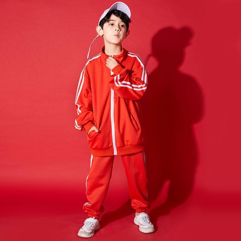 Children Hip Hop Dance Costumes Boys Jazz HiP Pop Kids Performance Jazz Dance Outfit Street Dance Clothing Stage Wear  DQS1022