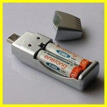 Dispositivos de Carregamento USB para Ni-mh 1 PC Carregador AA AAA 2A 3A Conveniente Portátil DA Bateria Recarregável de Nova