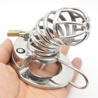 men's sex toys cbt cock cage metal cockring stainless steel male chastity device lock bondage penis ring cages sextoys for men