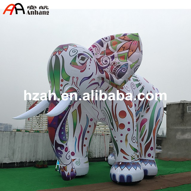 Giant Inflatable Cartoon Colored inflatable elephant