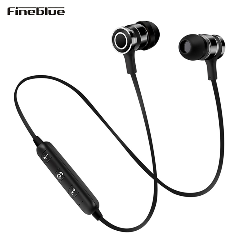 Lightweight Bluetooth Earphone Magnetic Wireless Bass Earbuds Sport Running Stereo Headset with Mic For Sony Xiaomi iPhone Music