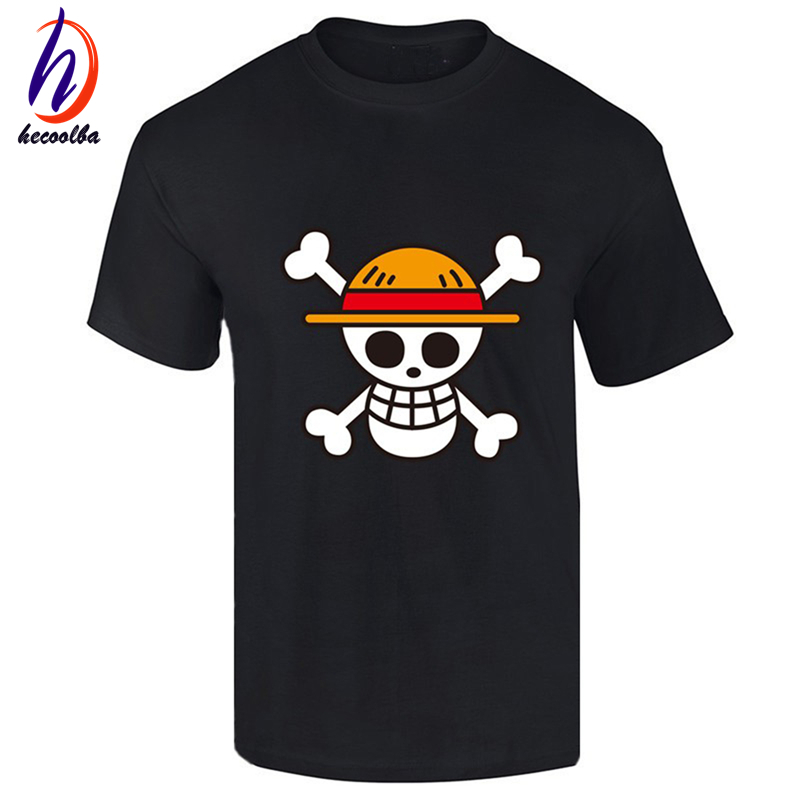 One piece t shirt 2017 fashion japanese anime clothing for One color t shirt