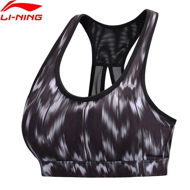 Li-Ning Women Training Tight Sports Bras Medium Support Breathable Comfort LiNing Sport Bra AUBN152