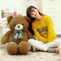 fillings toy large 100cm green teddy bear plush toy soft doll throw pillow Christmas gift b1900