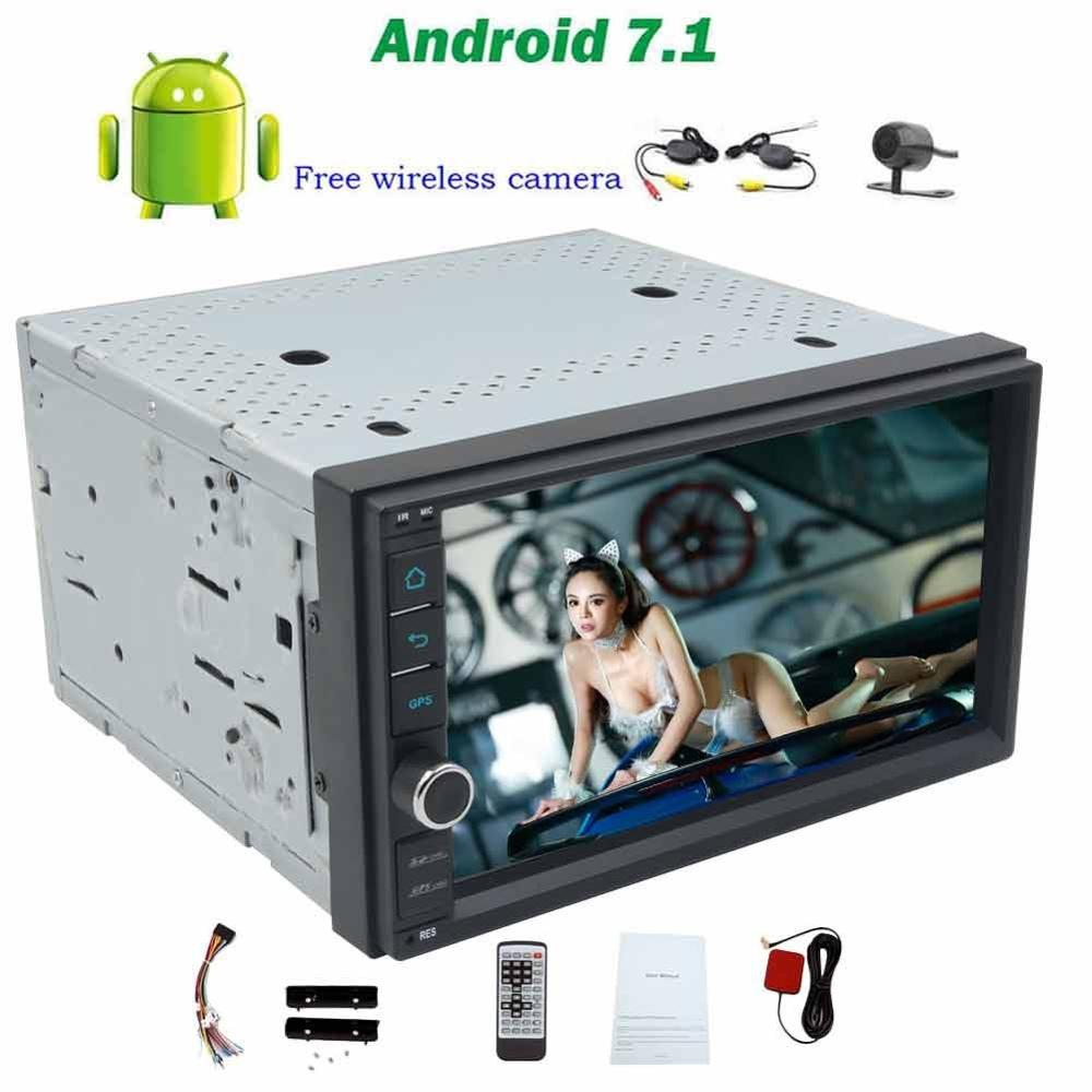 Android 7 1 Car radio Stereo no DVD Player Head Unit 2din 7inch Touchscreen Support Wifi
