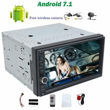 Android 7.1 Car radio Stereo no DVD Player Head Unit 2din 7inch Touchscreen Support Wifi OBD wifi 4GUSB/SD+wireless rear camera