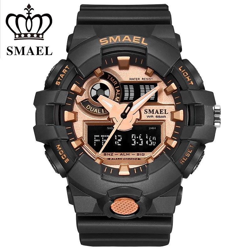 SMAEL Fashion Casual Sports Watch Men Brand Water Resistant Dual Time LED Digital Wrist Watch Male Black Clock Relogio Masculino casio watch men s fashion digital watch fashion casual