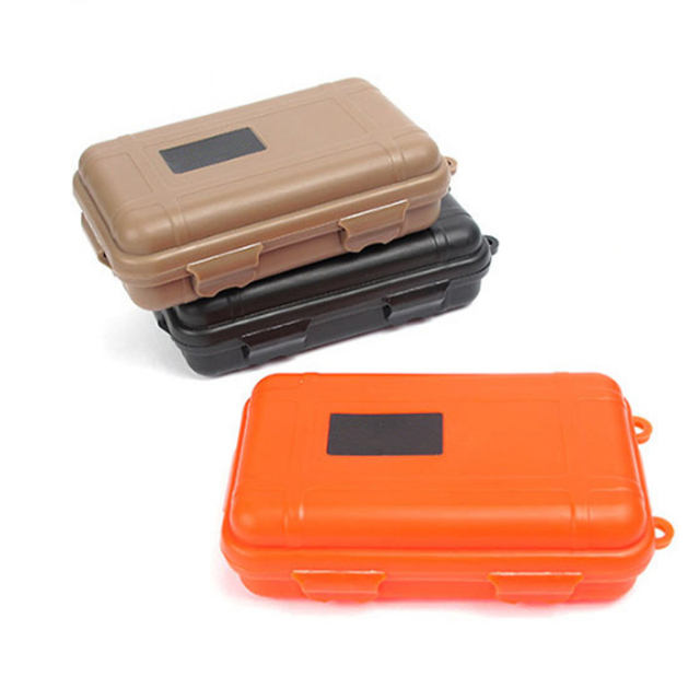 be9fb3d65d48 US $2.31 19% OFF|Outdoor Shockproof Waterproof Boxes Survival Airtight Case  Holder For Storage Matches Small Tools EDC Travel Sealed Containers-in ...