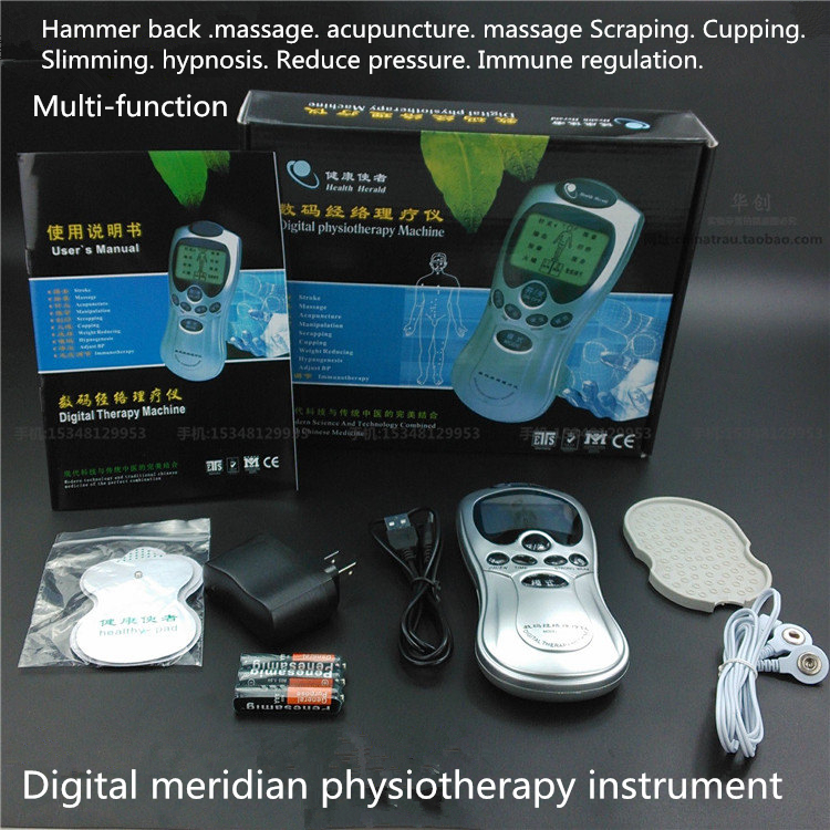 household Cervical massage device digital therapy machine therapeutic apparatus physiotherapy Electrical stimulation massager low frequency double pulse microcomputer therapeutic apparatus electrical stimulation acupuncture therapy device body massage