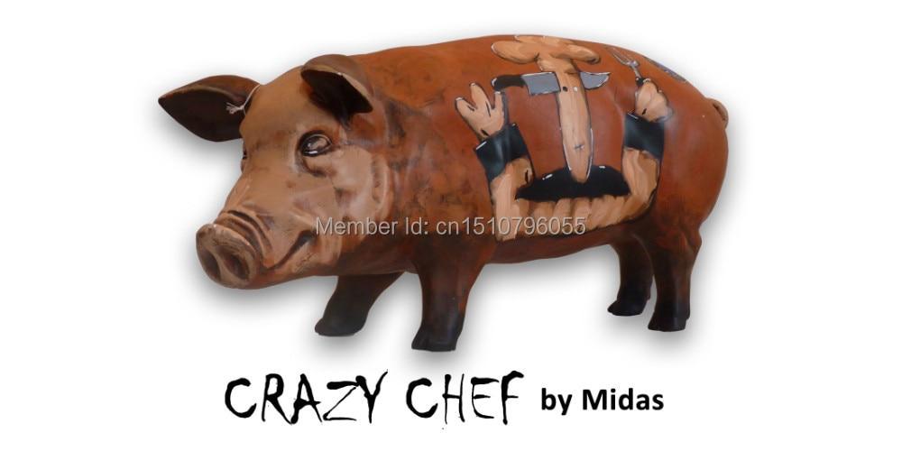 Polyresin Art Svinje Kolekcionarne svinje Art skulpture skulptura - Kućni dekor - Foto 1