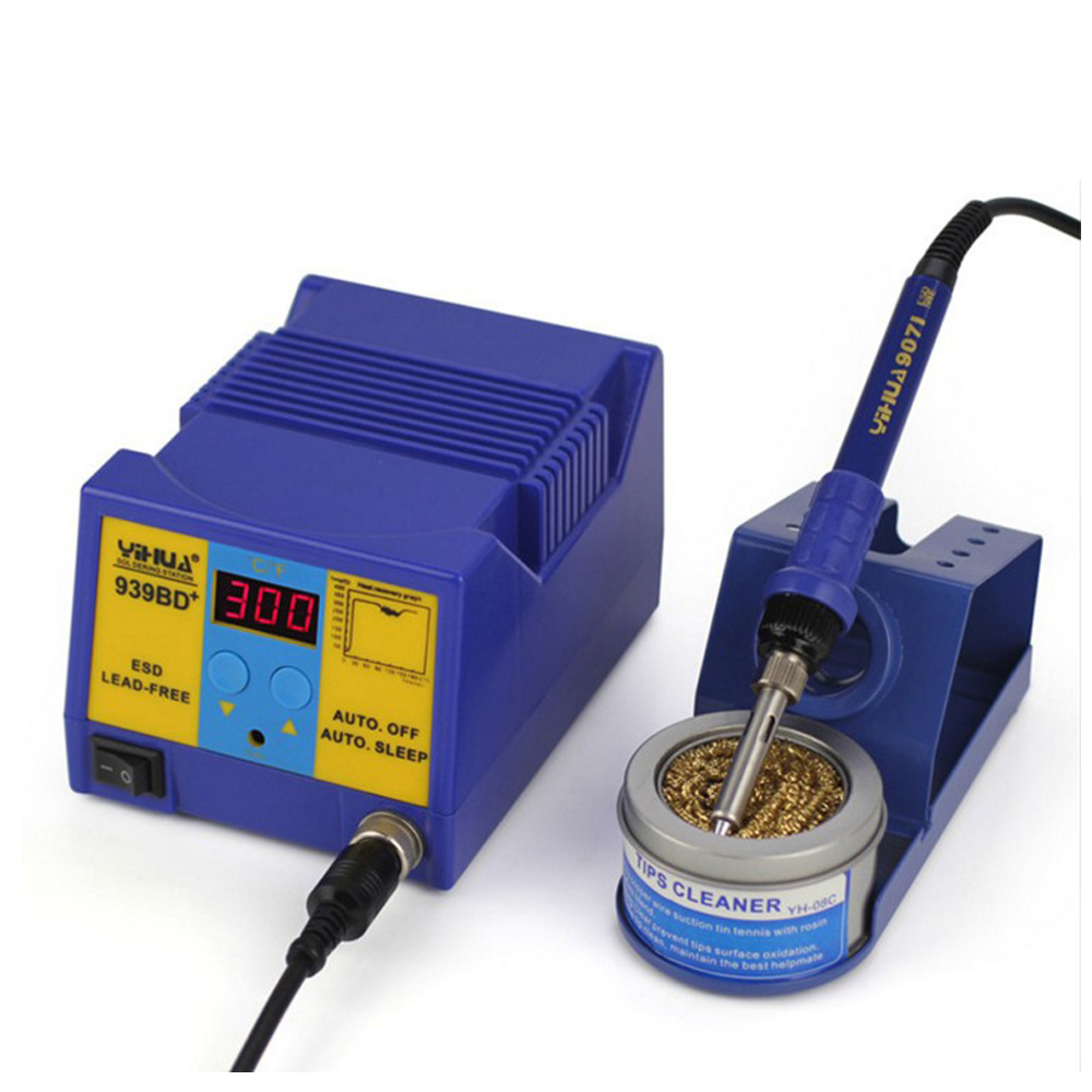 Anti Static Electric Welding Machine High Power Constant Temperature Soldering Station Lead-free Soldering Station YIHUA 939BD+ цена