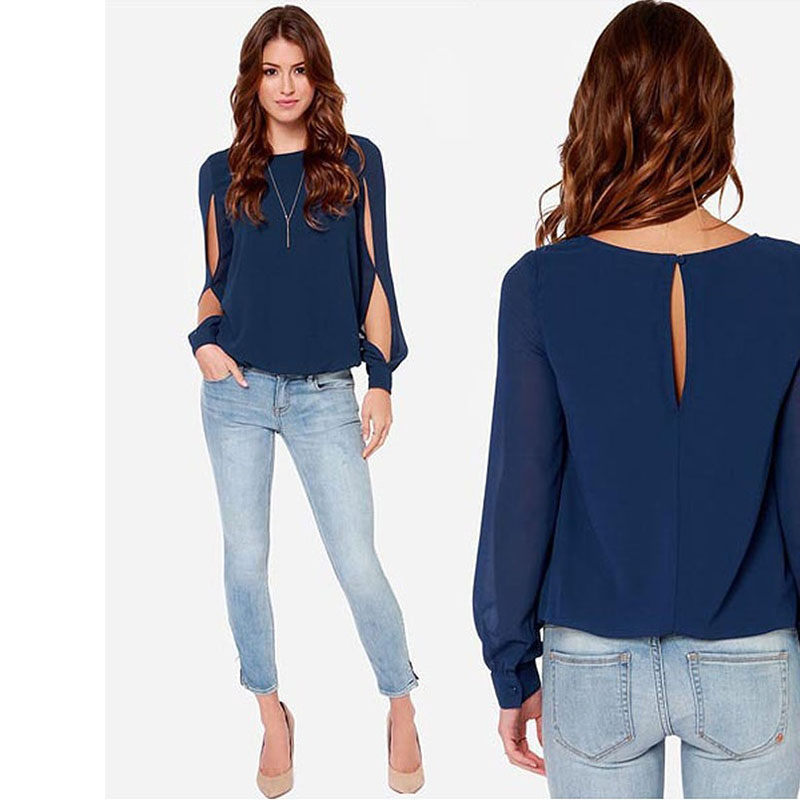 blusas mujer de moda 2019 spring modis loose long sleeve chiffon blouse plus size casual ropa ladies tops shirts image