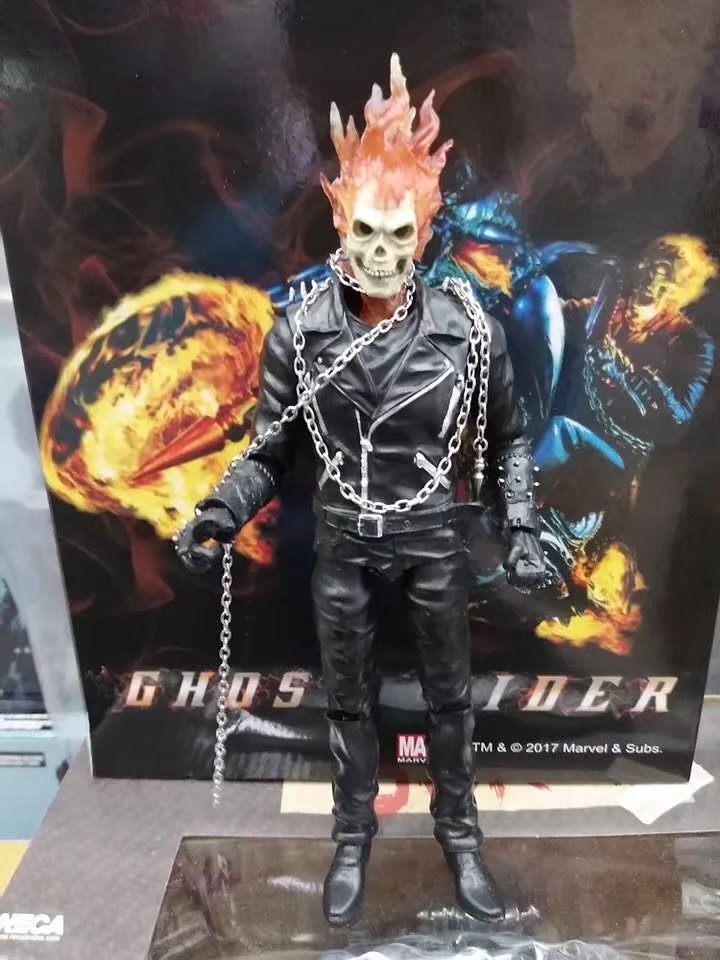 Marvel Ghost Rider Johnny Blaze PVC Action Figure Collectible Model Toy 23cm marvel select avengers hulk pvc action figure collectible model toy 10 25cm