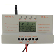 Solar Panel Regulator Charge Controller 12V 24V 380W 760W With LCD USB 30A MPPT colour light grey стоимость