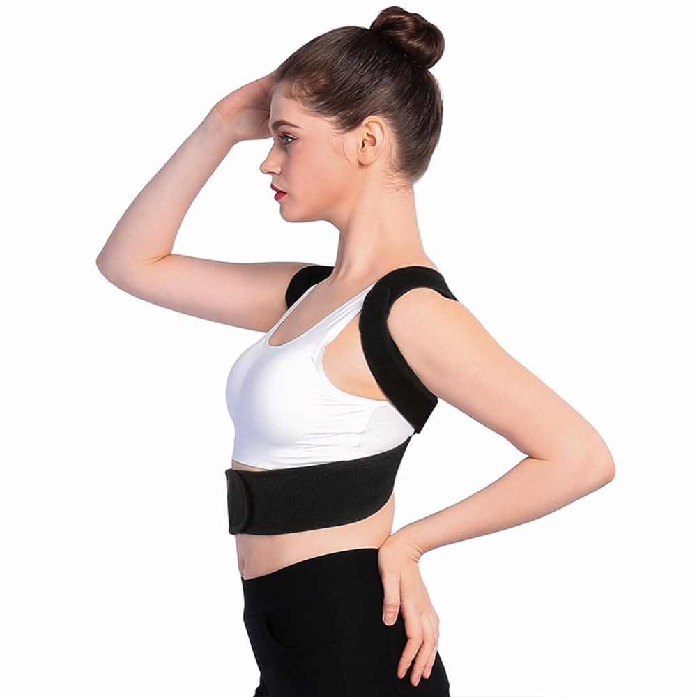 Yosoo Upper Back Support Corset Posture Corrector Shoulder Bandage Spine Support Belt Back Therapy Brace Orthotics For Men Women