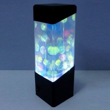 LED Portable Jellyfish Water Ball Aquarium Tank LED Lights Lamp Relax Bedside Mood Light for Home Decoration Drop Shipping(China)