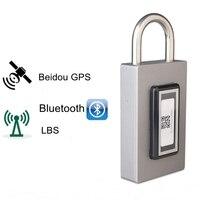 Перезаряжаемые и gps Bluetooth Smart Lock Водонепроницаемый дистанционный Управление шкафчик напольный Anti Theft замка