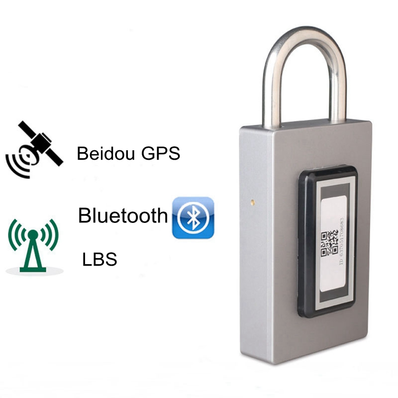Serrure intelligente Rechargeable et GPS Bluetooth étanche sans clé télécommande casier extérieur Anti-vol cadenas