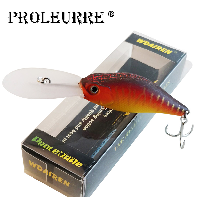 Proleurre Floating Deep Diving Crankbait Fishing Lures 15g/105mm Lifelike Wobblers With 6# Hooks Peche Isca Artificial