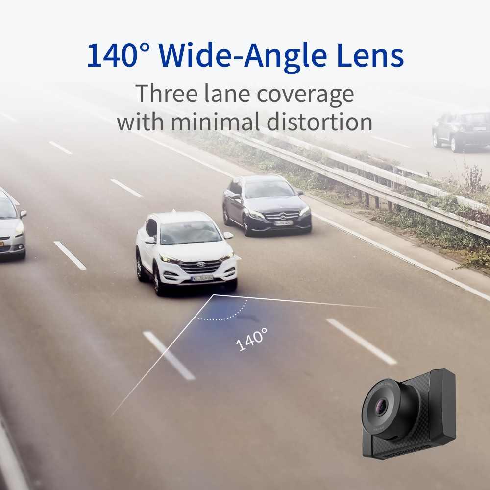 Автомобильный видеорегистратор YI Ultra Dash Camera   Разрешение 2.7K   Технология обработки Nano   Широкий угол обзора 140°