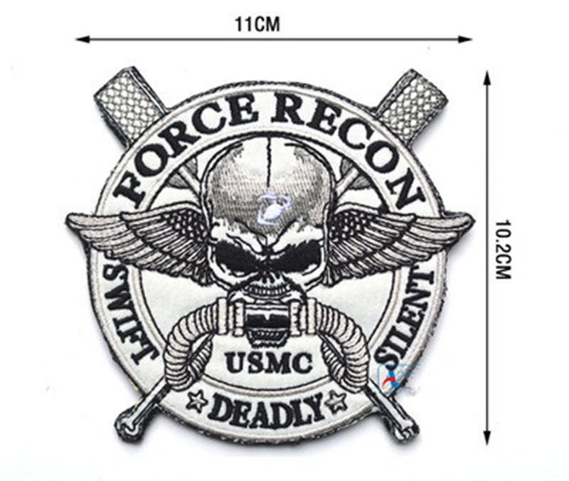 Embroidered Patch USMC Morale Patch Tactical Emblem Badges Embroidery Patches For Jackets Backpack Jeans Cap Clothing 10 2 11CM in Patches from Home Garden