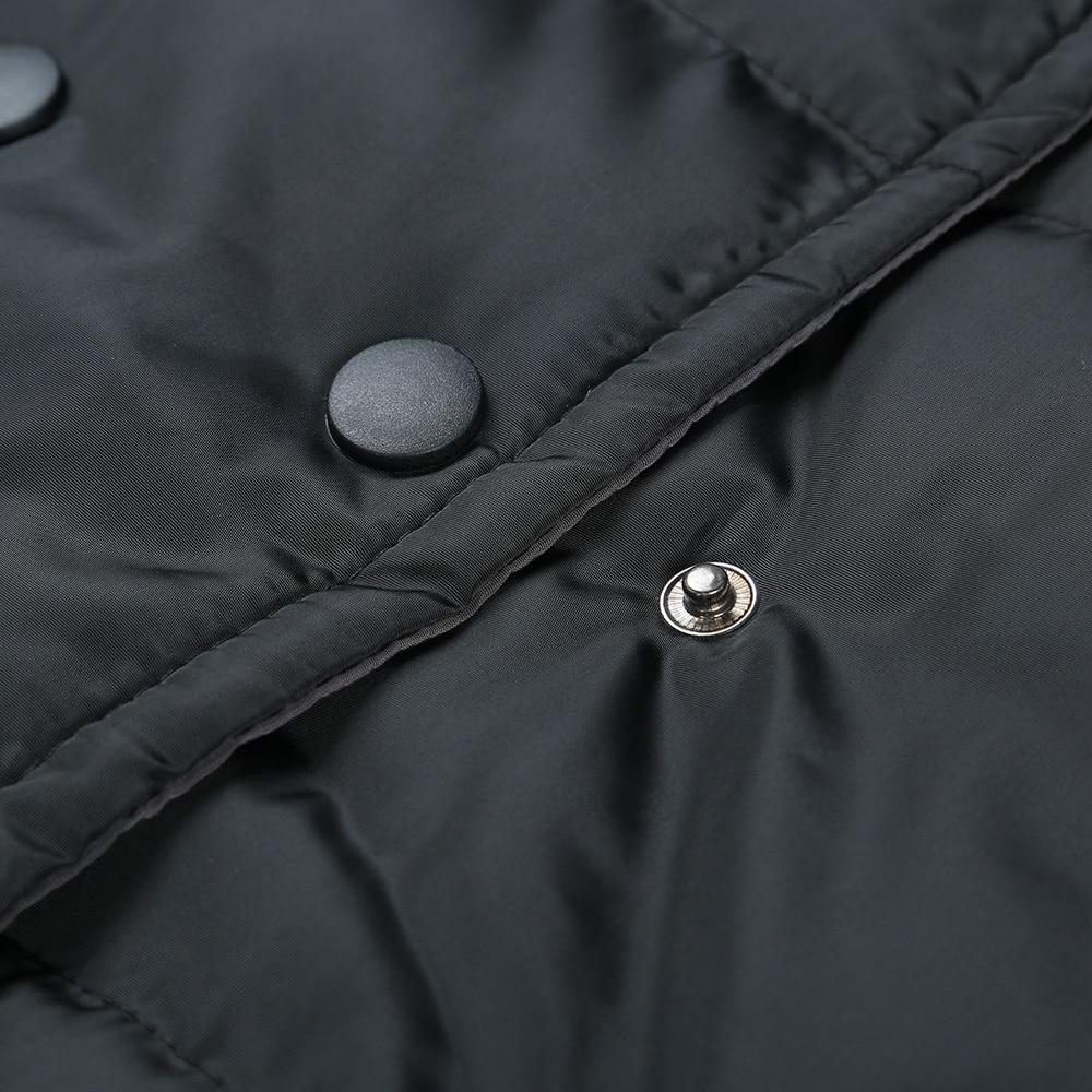Pocket 2018 Spliced Plus Capuchon À Femme Black Taille Parkas Manteaux Femmes Mode Hiver Chaud La Manches Kenancy Longues Vestes 7wFgqSng