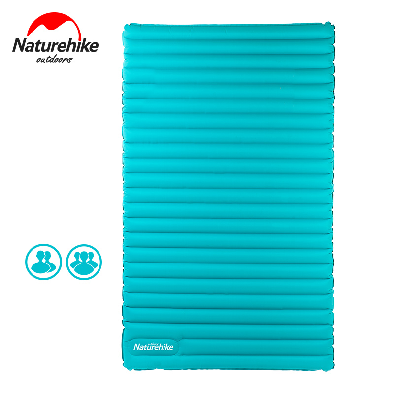 Naturehike Double Inflatable Cushion Camping Mat 9.5CM Inflatable Mattress Outdoor Air Mattress 3 Person Sleeping Pad Air bed