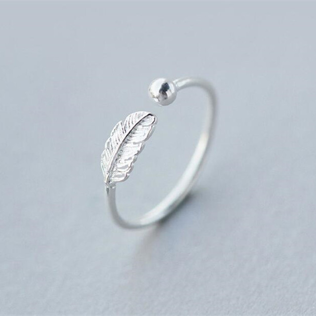 Hot Sale Atmosphere Personality 925 Sterling Silver Jewelry High-quality Feather