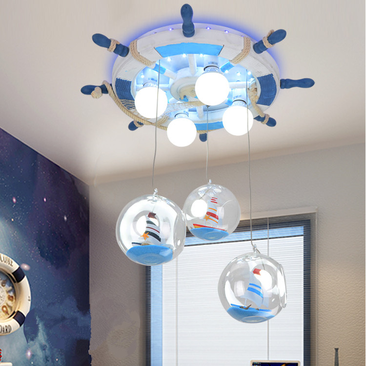 2016 Boat Rudder Mediterranean Children's Room Lighting