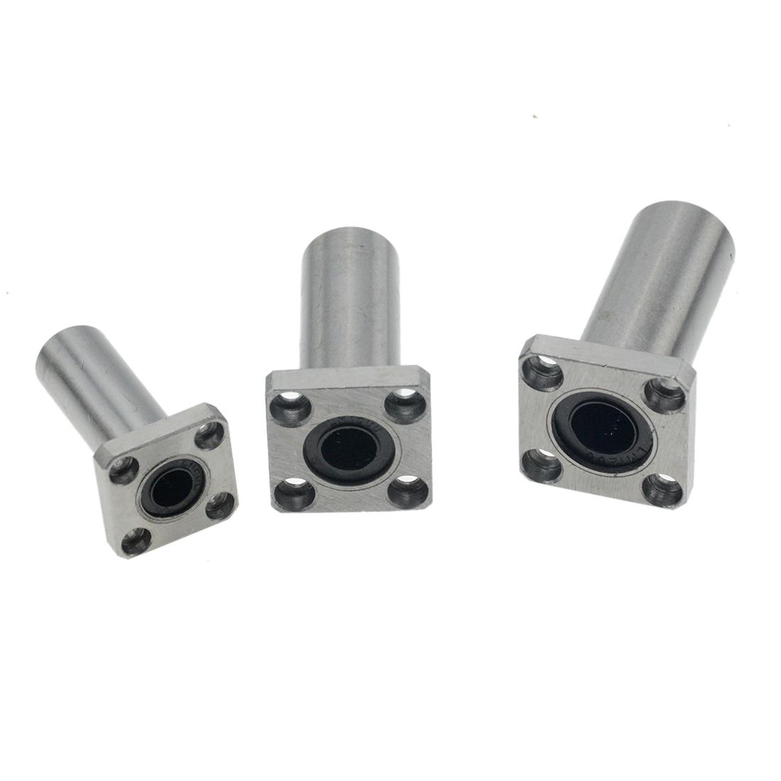 1pc LMK10LUU LMK10UU LMK8UU LMK12UU LMK16UU LMK6UU LMK20UU LMK12LUU Type 10mm Flange Linear Bearing For 3D Printer Linear Rod
