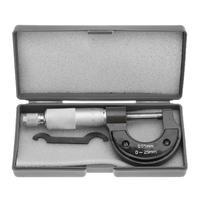 0-25mm/0.01mm fora micrômetro calibre caliper vernier medidor micrômetro ferramentas de medida de aço carbono