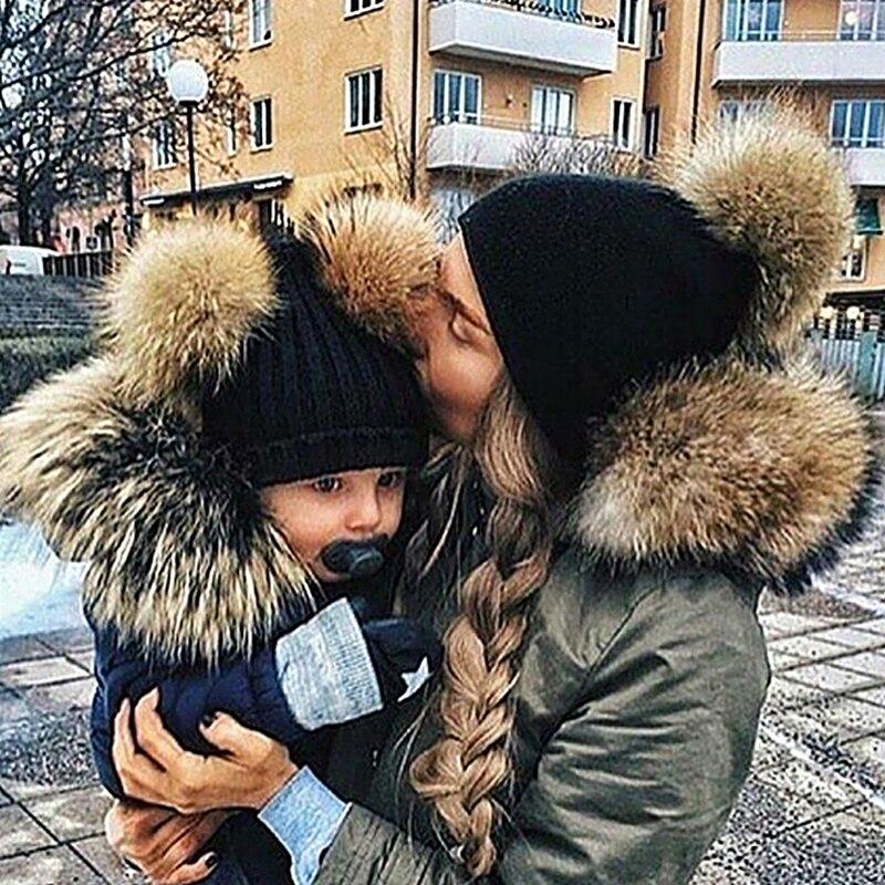 Высокого качества мамы мальчик Обувь для девочек двойной волос, Цвет шерстяные обжимной толще Шапка-бини