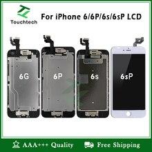 10 шт. завершенная часть Pantalla для iPhone 6 6 S плюс ЖК дисплей черный и белый без битых пикселей дисплей 3D сенсорный экран планшета полная сборка