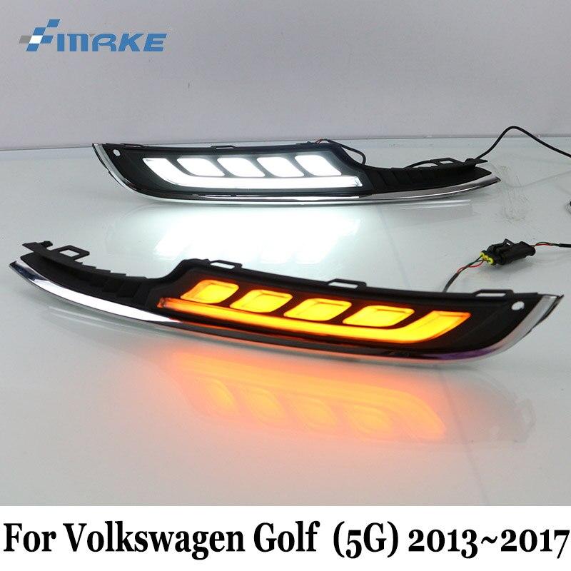 ДХО SMRKE для Фольксваген Гольф 7 (Тип 5г) 2013~2017 / автомобиль дневные ходовые огни & освещение поворотов сигнальная лампа / два цвета стайлинга автомобилей