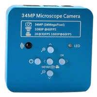 34Mp 2K 1080P 60Fps Hdmi Usb промышленный электронный цифровой видео паяльный микроскоп камера лупа для телефона Pcbtht Repari