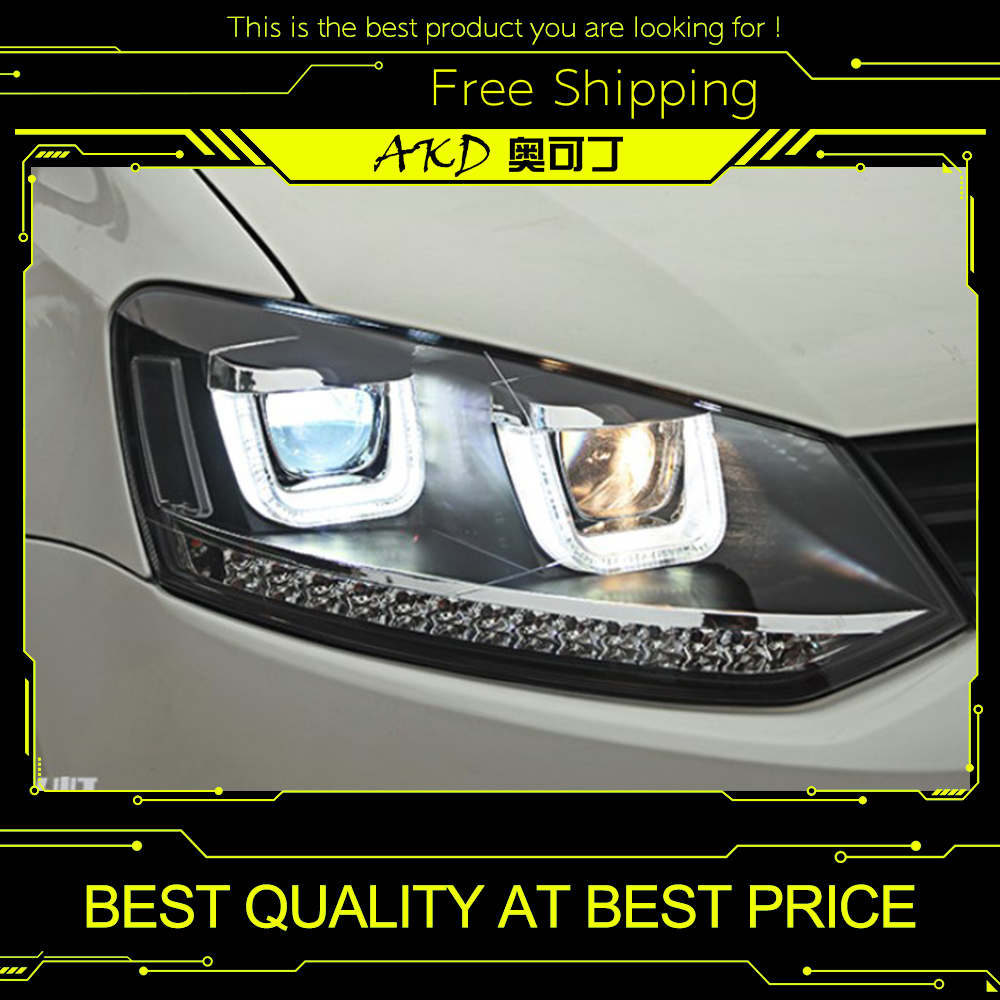 Akd Car Styling For Vw Polo Headlights 2009 2015 Gti Led
