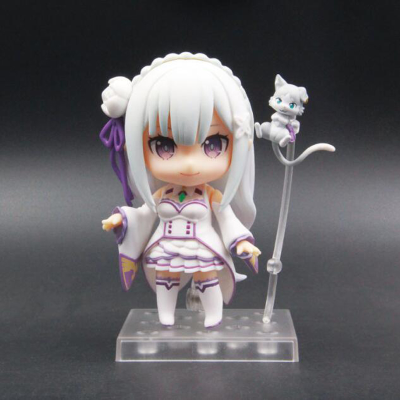 Toys & Hobbies Anime Re:life In A Different World From Zero Pvc Action Figure 10cm Emilia 751 Nendoroid Movable Model Doll Collection Toys Latest Fashion