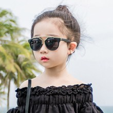 KRMDING 2019 Fashion metal frame kids sunglasses girl boy glasses baby sunny beach children uv400oculos infantil