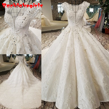 21654 Luxury Wedding Dresses 2018 Sleeveless Bridal Gown