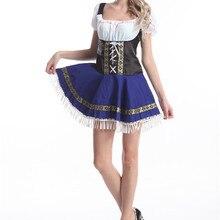 Немецкий баварский костюм Баварской официантки платье для женщин необычный праздничный наряд вечерние праздничные костюмы плюс размер S-6xl