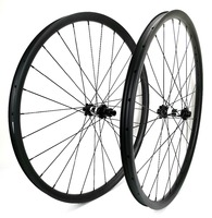 29er Mountain Bikes carbon wheels 30mm width 24mm depth tubeless MTB XC carbon wheelset with UD matte finish,DT hubs